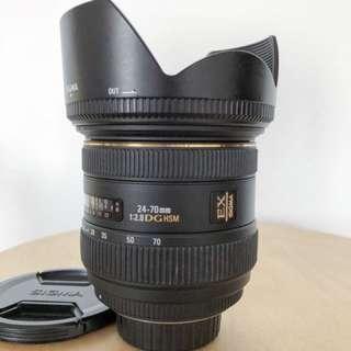 Sigma 24-70mm f/2.8 EX DG for Nikon mount