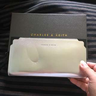 Silver wallet from Charles & keith