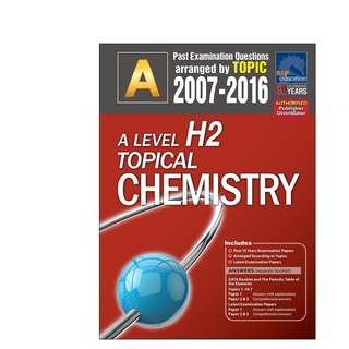 A Level H2 Chemistry Topical 2007 - 2016