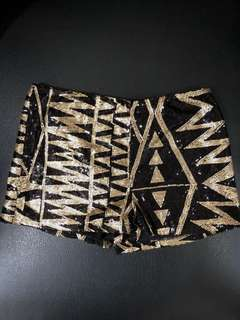 Sequinned Party Shorts