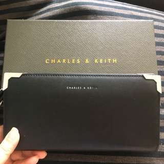 Black wallet from Charles & Keith
