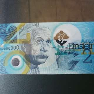 Test note with albert einstein polymer rare