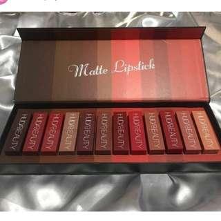 Huda Beauty Matte Lipstick 12 pcs