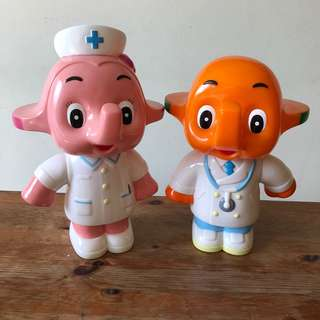 Sato Doctor & Nurse coin bank