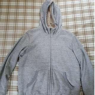UNIQLO Faux Fur Lined Sweat Zip Hoodie