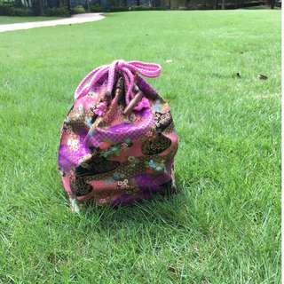 和風索袋 (紫色日本風)