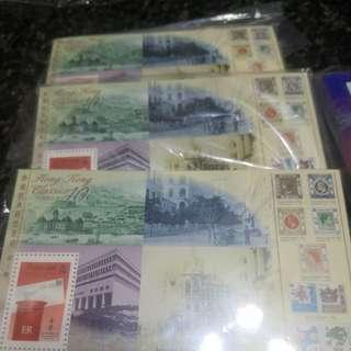 香港郵票。。。小型張兩款五叠500張