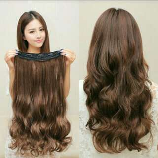 PO korean Wavy curly straight clip on  Hair Extension   Waiting Time 12days After Payment Is Made   Pm If Int