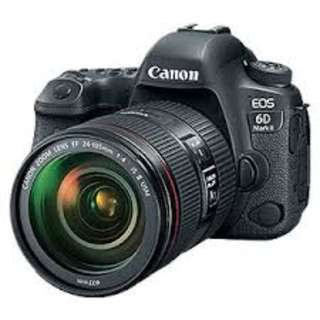 Canon EOS 6D Mark II DSLR Camera 24-105mm f/4 Lens Kredit tanpa CC