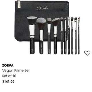 Zoeva Vegan Prime 10-pieces Makeup Brushes set