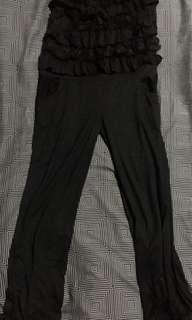 NY square black tube jumpsuit