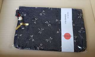BNIB Brand New Black Pouch From Japan