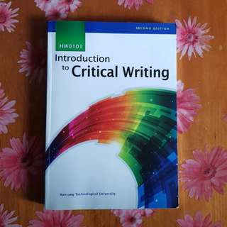 Introduction to Critical Writing [2nd Ed]