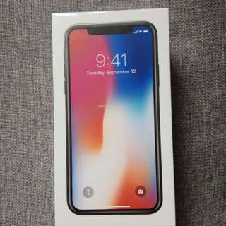 Iphone X, New unopend 256GB space gray, receipt