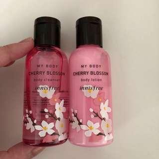 Innisfree Jeju Cherry Blossom Cleanser & Lotion