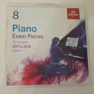ABRSM Grade 8 CD only - Exam Pieces 2017 &2018