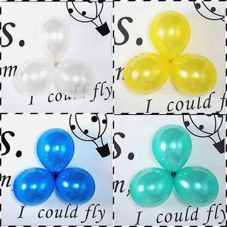 Colourful Latex Shimmer Ballons