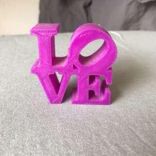Love 3D printed mini sculpture