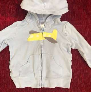 Carter's light blue aeroplane hoody jacket (18M)