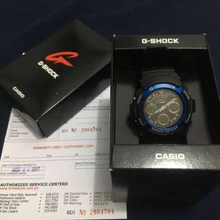 Casio G-Shock Men's Blue Resin Strap