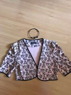 Short Jacket with matching Floral Choker