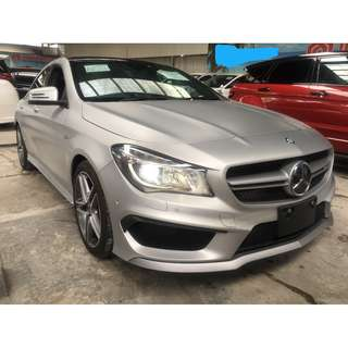 2014 Mercedes-Benz CLA45 AMG 2.0 MATTE SILVER PANORAMIC