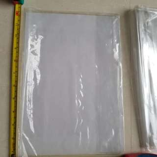 Plastic book cover 15 pcs