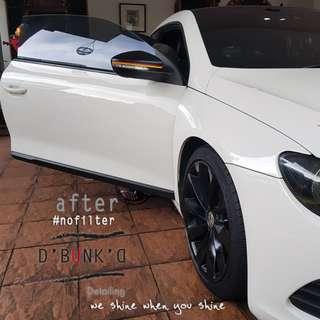 Car Wash + Machine Polish + Tire Shine + Interior & optional Paint Protection Treatment