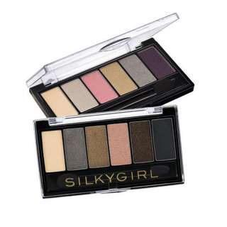<FREE DELIVERY> Silkygirl Makeup Truly Nude Earth Tones Smokey Everyday / Party Mineral Eyeshadow Palette