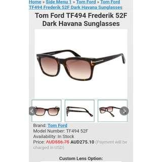 Tom Ford leopard print sunglasses