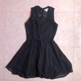 Cotton on collared Black Skater Dress