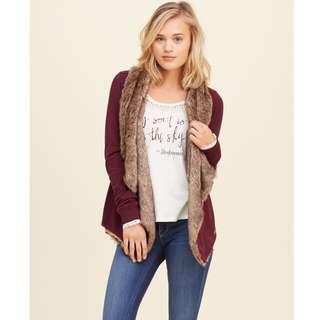 全新 Hollister Lined Open Cardigan 毛毛外套 冷衫 開襟毛衣 sweater American Eagle Topshop H&M