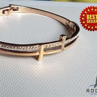 Gold Cross Bangle (Available Now)