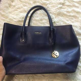 Authentic Furla Small Leather Tote Bag