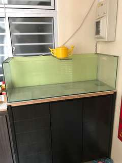 Fish Tank 4ft x 1.5ft x 1.5ft est.