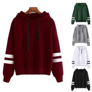 Hooded Long-Sleeved Sweater
