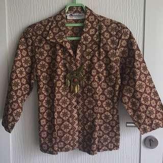Batik Blouse With Collars