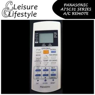 [A/C Remote] Panasonic A75C31 Series