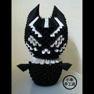 3D Origami Black Panther