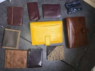 80年代香港真皮製造銀包,筆記袋