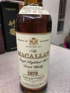 Macallan 18年(1972/ 1976)冇盒