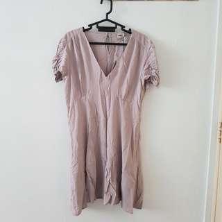 ASOS short sleeve UK14 lilac dress