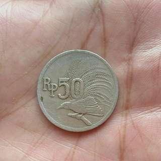 Koin 50rupiah Jadul 1971