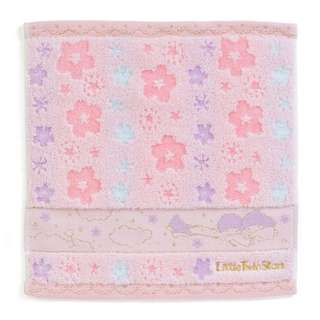 Japan Sanrio Little Twin Stars Petit Towel Handkerchief (Sakura)