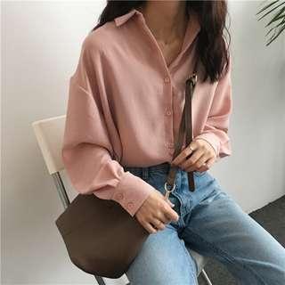 [BNWT] Pink Button Blouse