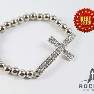 Silver Cross Bracelet (Available Now)