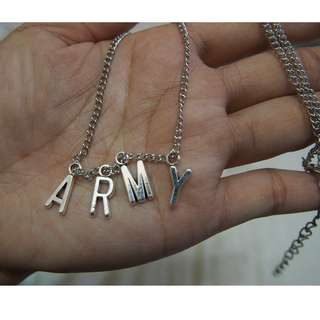 BTS Jimin 'ARMY' Necklace (Ready stock)