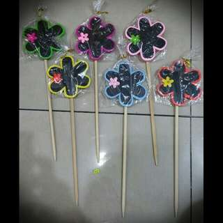 Blackboard / Message board on stick (Flower)