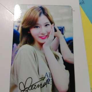 Twice Sana簽名透卡