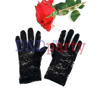 Black Lace Gloves (Short)